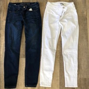 TWO PAIRS of American Eagle Jeans